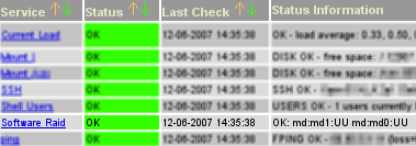 Screenshot Nagios Raid Monitoring